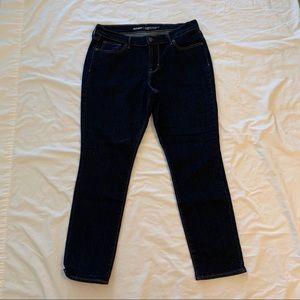 Old Navy Curvy Profile Skinny Jeans Dark Wash EUC